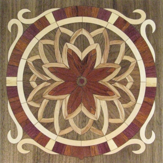 "8""x 8"" Marquetry Project Kit - Flower"