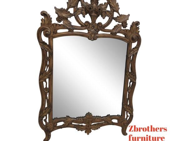 Vintage Italain Regency Hanging Wall Mirror Pierce Carved Mirror Fair