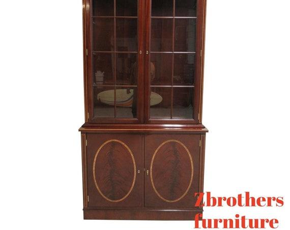 Kindel Tudor Place Hepplewhite Inlaid Curio China Cabinet
