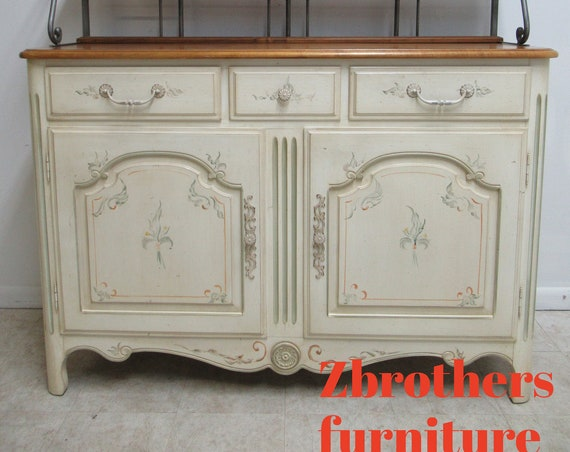 Ethan Allen Legacy Country French Sideboard Bakers Rack Top