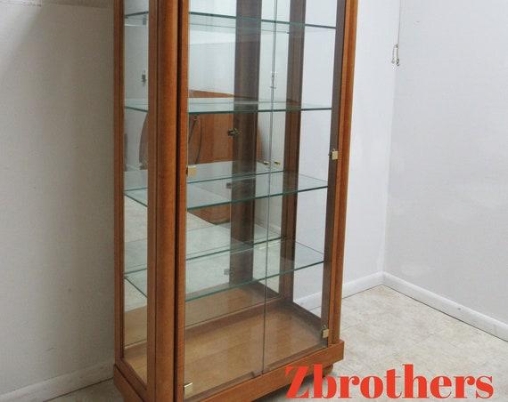 Hickory White Genesis Neo Classical Curio Display China Cabinet Biedermeier B