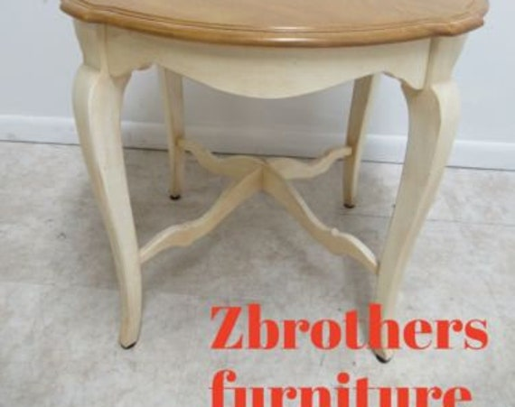 Ethan Allen Legacy Country French High Leg Lamp End Table