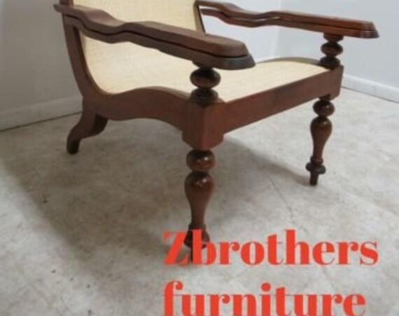 Baker Milling Roads Plantation Cane Sling Lounge Chair Living Room B