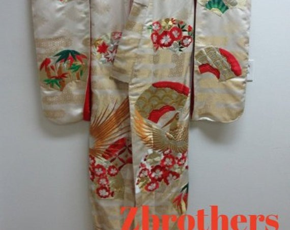 Vintage Japanese Wedding Kimono B