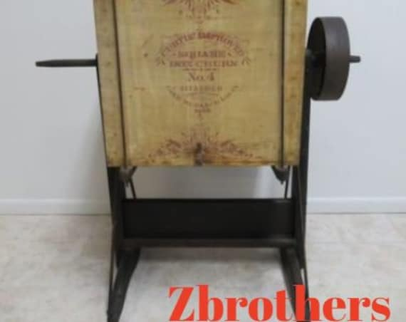 AntiqueLarge Industrial Curtis Improved Square Box Churn Number 4 Stencilled