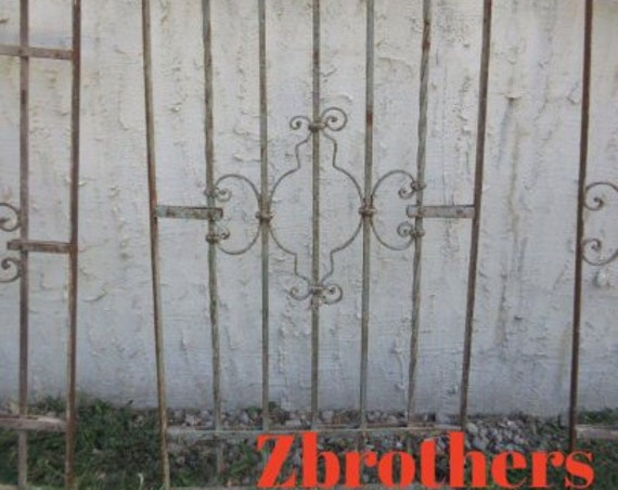 Antique Victorian Iron Gate Window Panel Fence Architectural Salvage #768