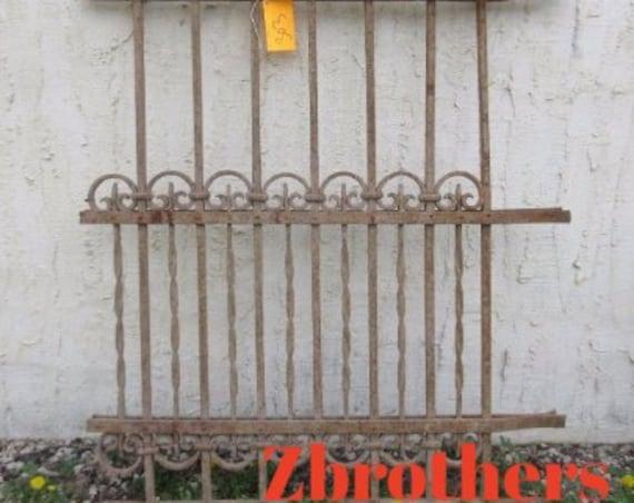Antique Victorian Iron Gate Window Panel Fence Architectural Salvage Door #303