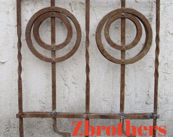 Antique Victorian Iron Gate Window Garden Fence Architectural Salvage Door #088