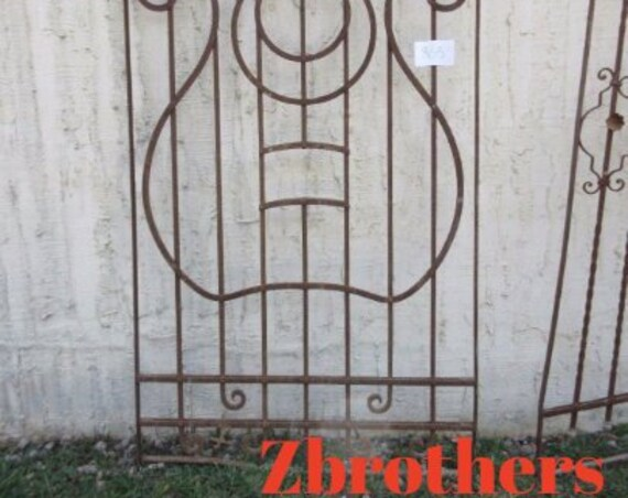 Antique Victorian Iron Gate Window Panel Fence Architectural Salvage #865