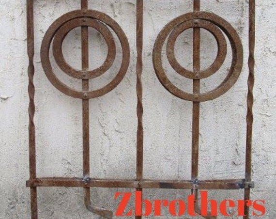 Antique Victorian Iron Gate Window Garden Fence Architectural Salvage Door #089