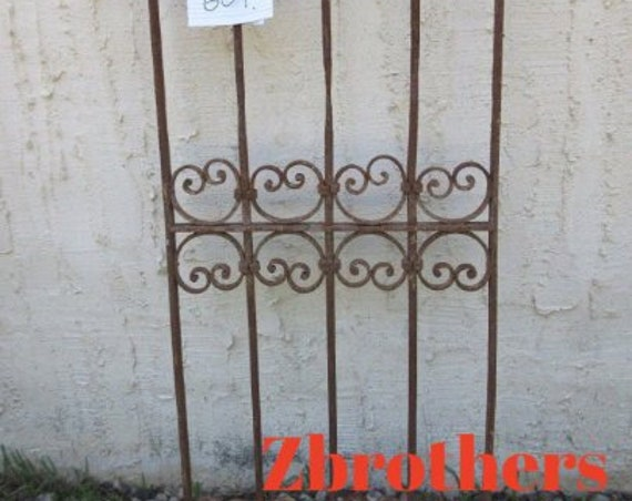 Antique Victorian Iron Gate Window Panel Fence Architectural Salvage Door #609