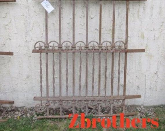 Antique Victorian Iron Gate Window Panel Fence Architectural Salvage Door #310