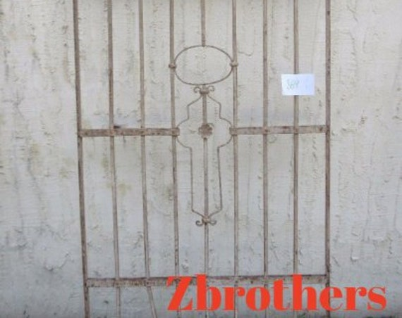 Antique Victorian Iron Gate Window Panel Fence Architectural Salvage #869