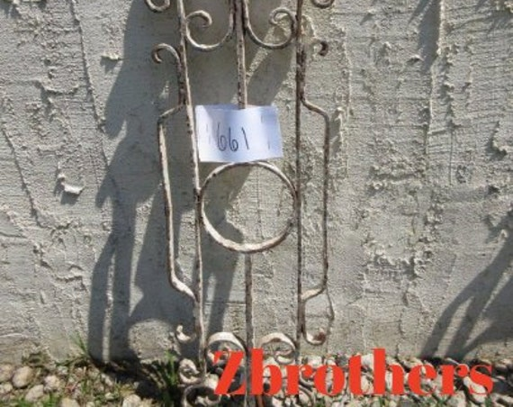 Antique Victorian Iron Gate Window Panel Fence Architectural Salvage Door #661