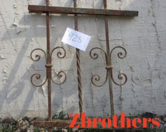 Antique Victorian Iron Gate Window Panel Fence Architectural Salvage #928