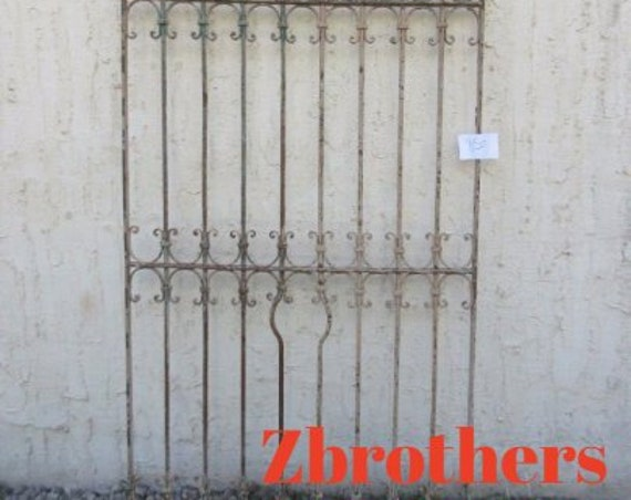 Antique Victorian Iron Gate Window Panel Fence Architectural Salvage #850