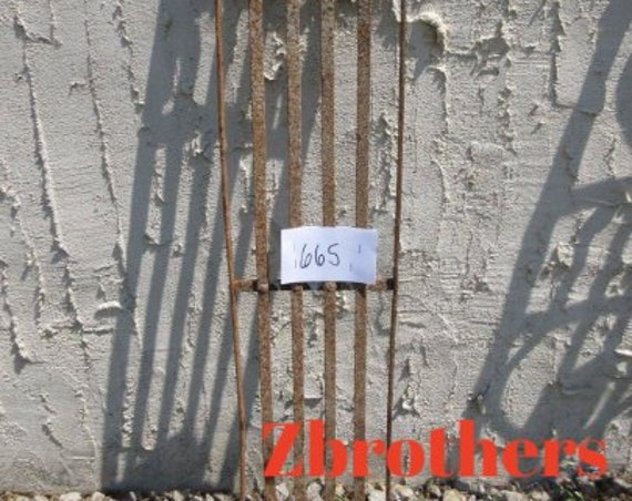 Antique Victorian Iron Gate Window Panel Fence Architectural Salvage Door #659