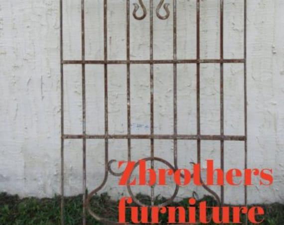Antique Victorian Iron Gate Window Panel Fence Architectural Salvage Door #66