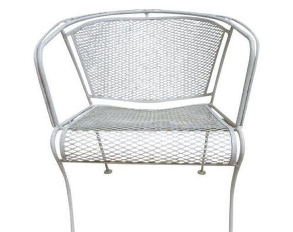 Vintage Woodard Outdoor Patio Porch Arm Lounge Chair Mid Century