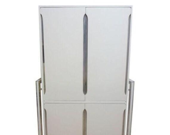 Vintage Mid Century Thayer Coggin Milo Baughman Wardrobe Dresser Chest Cabinet