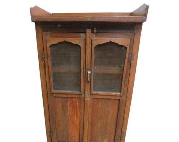 Antique architectural salvage Reclaimed Hutch China Cabinet Cupboard m F