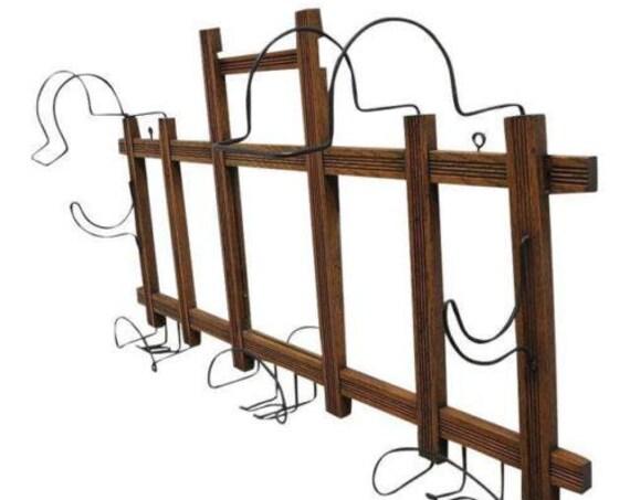 Antique Victorian Hanging Wall Mirror Coat Hook Hat Rack B