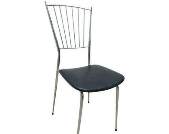 Vintage Mid Century Chrome Gio Ponti Horn Dining Room Side Desk Chair A
