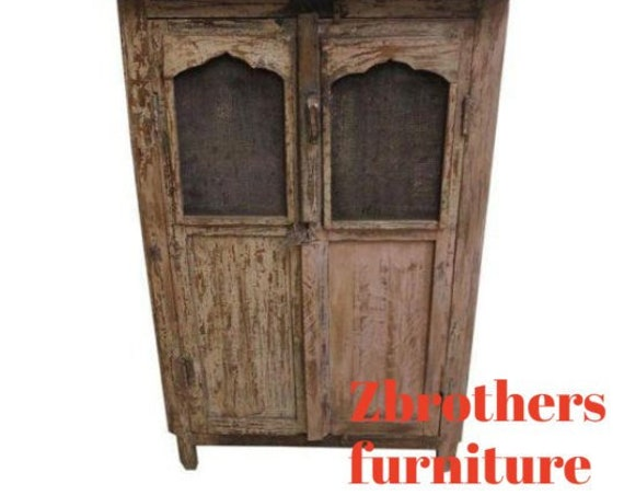 Antique architectural salvage Reclaimed Hutch China Cabinet Cupboard m K