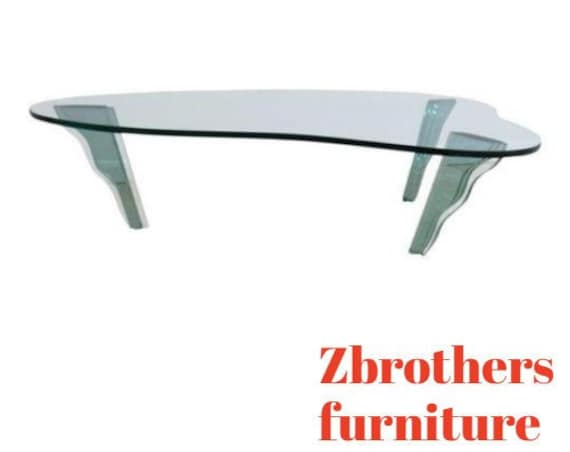 Vintage Free Form Stacked Glass Designer Floating Coffee Table