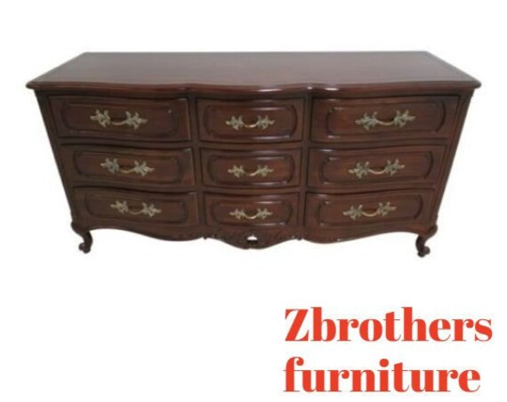 Vintage Century Furniture French Carved Chest Of Drawers Dresser Console