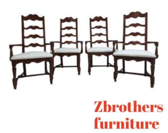 4 Pennsylvania House Cherry Ladderback Dining Room Arm Chairs Set