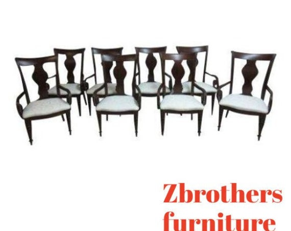 Set of 8 Pennsylvania House Cherry Cortland Manor Dining Room Arm Chairs