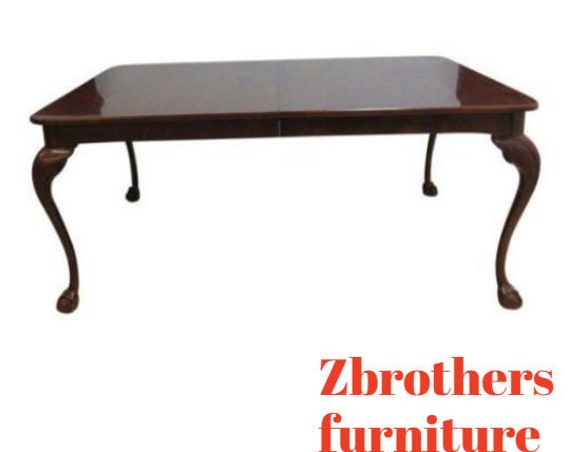 Henredon Cherry Ball Claw Banquet Dining Conference Table