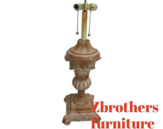 Chelsea House Italian Regency Pine Wood Carved Lamp  b