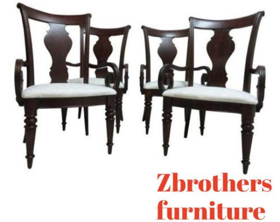 Set of 4 Pennsylvania House Cherry Cortland Manor Dining Room Arm Chairs