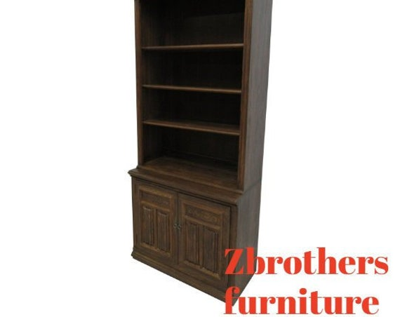 Ethan Allen Bookcase Book Shelf Hutch Display Charter Oak Jacobean B