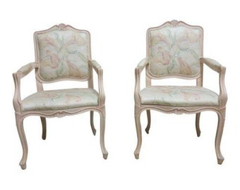 Quick View. Vintage Pair French Carved Casa Stradivari Dining Room Fireside Lounge  Arm Chair