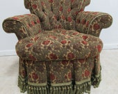 Super Quality French Regency Boudoir Tufted Revolving Slipper Chair Louis XV A