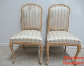 2 Century Furniture Fish Scales Carved Dining Room Side Chairs Italian Regency A