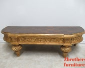 Custom French Regency Gold Gilt Louis XV Console Window Bench