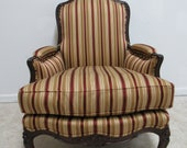 Henredon French Carved Natchez Living Room Club Lounge Chair