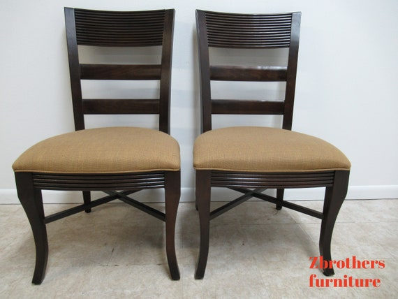 Pair Nautica By Lexington Ladder Back Dining Room Side Chairs B