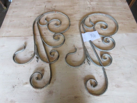Antique Victorian Iron Gate Window Panel Fence Architectural Salvage #916