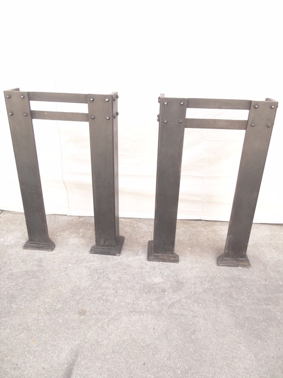 set of metal industrial dining room table sofa hall table legs reproduction
