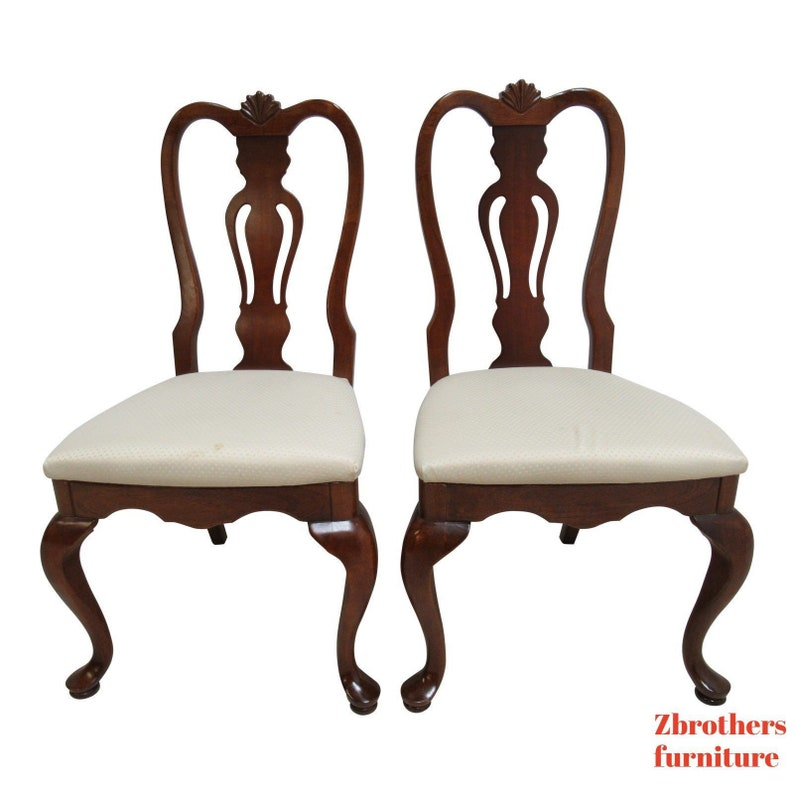 Ordinaire Lexington Cherry Chippendale Queen Ann Dining Room Side Chairs Shell Carved  A