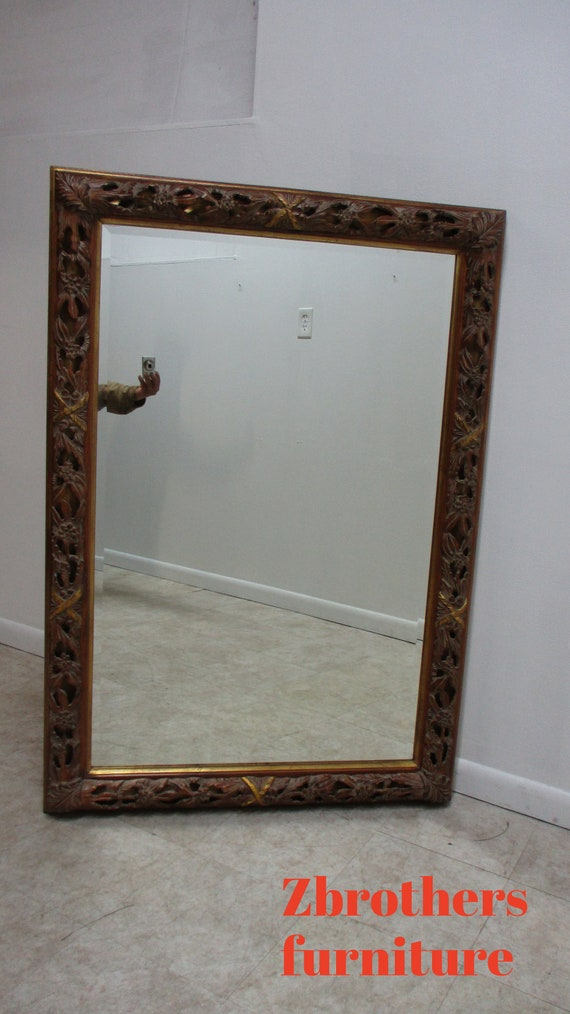Labarge Pierce Carved Italian Regency Wall Console  Mirror