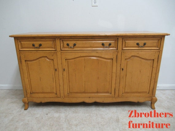 Guy Chaddock Country French Distressed Sideboard Buffet Console Server