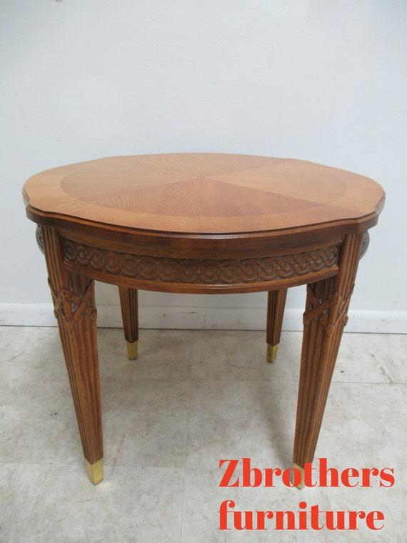 Century Furniture Italian Regency Carved Lamp End Table Pedestal B
