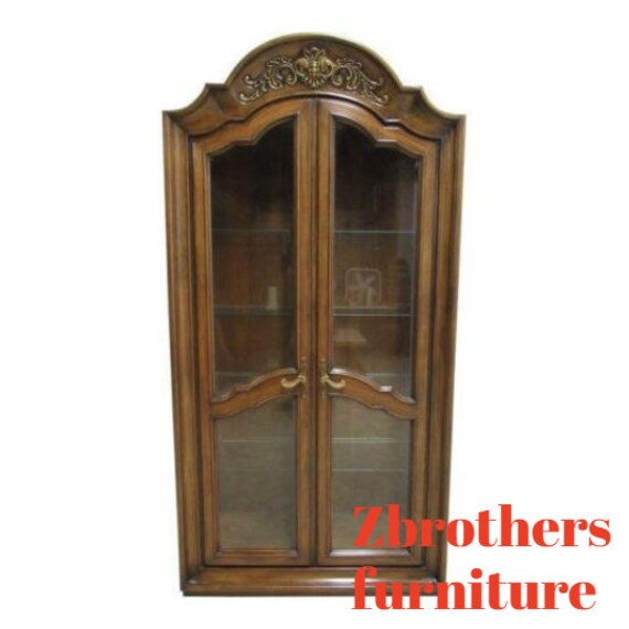 Vintage Baker Furniture French Regeny Dome Top Curio Hutch China Cabinet A