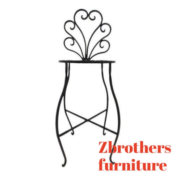 Vintage French Regency Wrought Iron Counter Bar Stool A